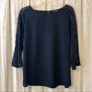 The Limited Navy Lace Blouse Top Medium